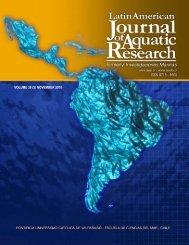 Portada LAJAR.psd - Latin American Journal of Aquatic Research