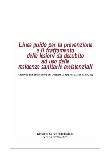 Linee guida per la prevenzione e il trattamento delle lesioni da ...