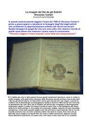 Le imagini dei Dei de gli Antichi Vincenzo Cartari - Artealiena.it