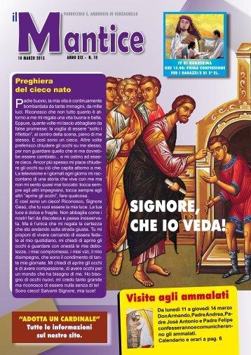10 marzo 2013 - ParrocchiaVanzaghello.it