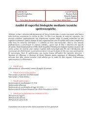 Analisi di superfici biologiche mediante tecniche spettroscopiche