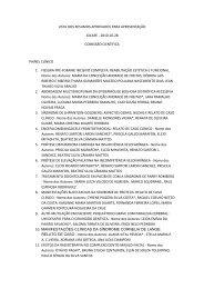 lista dos trabalhos (resumos) aceitos para apresentação oral