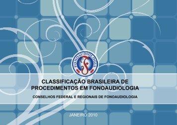 classificação brasileira de procedimentos em fonoaudiologia