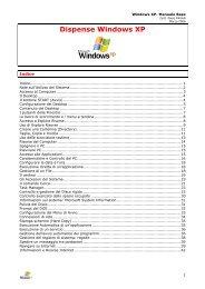 Dispense Windows XP - Paolo PAVAN