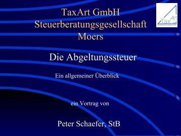Die Abgeltungssteuer - bei der TaxArt GmbH ...