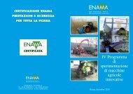 IV Programma di sperimentazione di macchine agricole ... - Enama