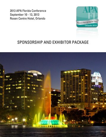 SPONSORSHIP AND EXHIBITOR PACKAGE
