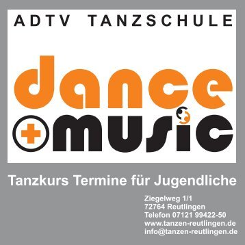 Flyer Jugendliche Homepage - ADTV Tanzschule dance + music