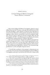 I ternari trilingui di Matteo Correggiaio. Nuova edizione e commento
