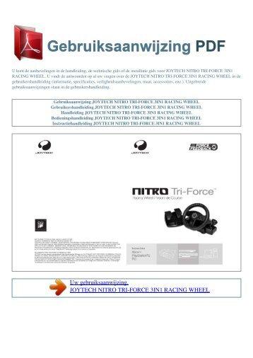 nitro tri-force 3in1 racing wheel - GEBRUIKSAANWIJZING PDF