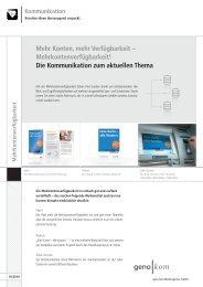 Mehrkontenverfügbarkeit! - geno kom Werbeagentur GmbH
