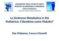 La Sindrome Metabolica in Età ' Pediatrica: il Bambino come l ... - Fimp