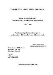 Acidi grassi polinsaturi omega 3: modulazione del ... - DSpace@Unipr