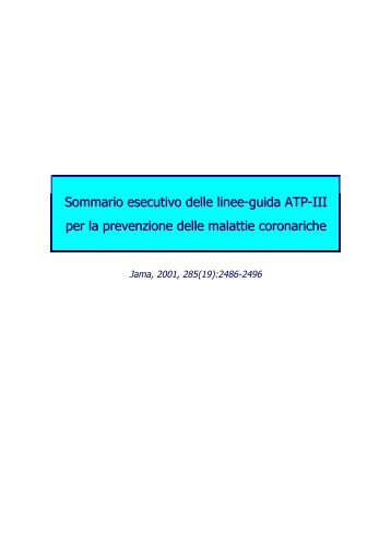 Sommario esecutivo delle linee-guida ATP-III - Sefap