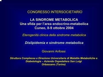 Dislipidemia e sindrome metabolica - Infomedica