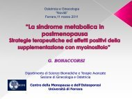 La sindrome metabolica in postmenopausa - Mcr Ferrara