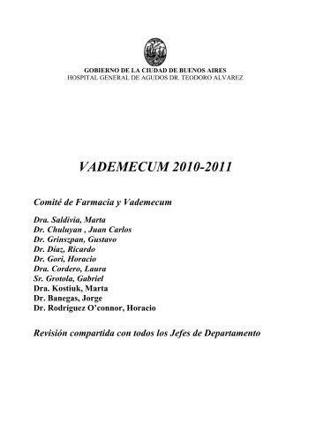 VADEMECUM 2010-2011 - Hospital Alvarez