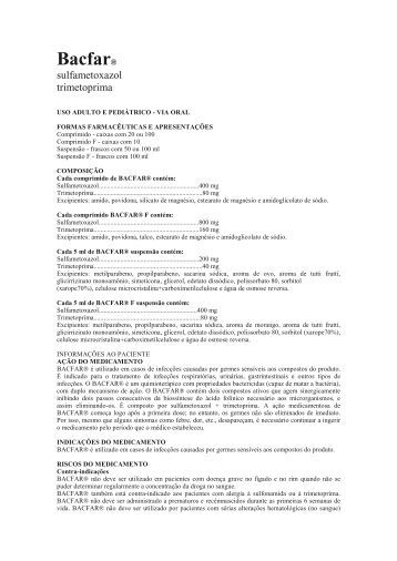 Bacfar® - Laboratório Farmacêutico Elofar