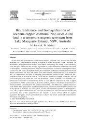 Biotransference and biomagnification of selenium copper, cadmium ...