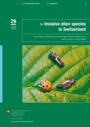 Invasive alien species in Switzerland - Schweizer ...