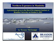 Northern Exposures in Manitoba - Brandon University