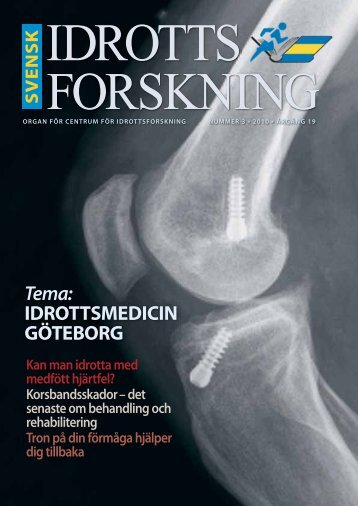 Tema: IDROTTSMEDICIN GÖTEBORG - Göteborgs universitet