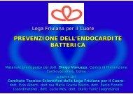 prevenzione dell'endocardite batterica - Lega Friulana per il Cuore