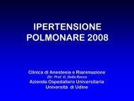IPERTENSIONE POLMONARE - Università degli studi di Udine
