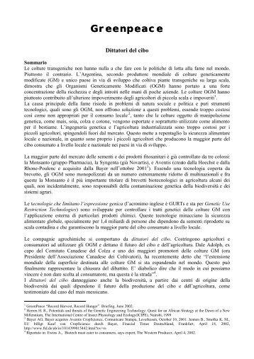 Greenpeace reenpeace - Greenpeace Italia