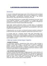 Il mercato delle biotecnologie in Argentina - BiotechInItaly