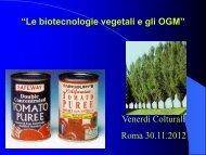 30.11.2012, Le biotecnologie vegetali e gli OGM_Norberto ... - FIDAF