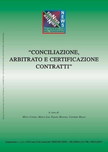 Conciliazione, Arbitrato e Certificazione Contratti - EBINTER