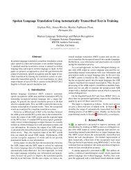 Spoken Language Translation Using Automatically Transcribed Text ...