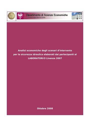 Analisi Costi - Benefici delle ipotesi d'intervento per la sicurezza ...
