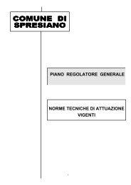 Norme tecniche di attuazione - Comune di Spresiano