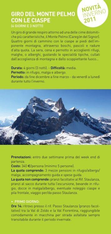 scarica il pdf (98,2 Kb) Giro del Monte Pelmo con le Ciaspe