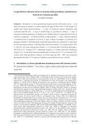 La giurisdizione tributaria attraverso il prisma della giurisdizione ...