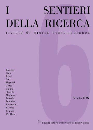 sentieri della ricerca - Centro di Documentazione Del Boca – Fekini
