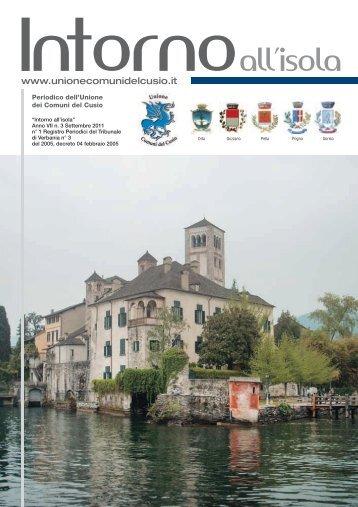 Settembre 2011 - Unione Comuni del Cusio