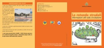 Le rotonde stradali - Comune di Modena