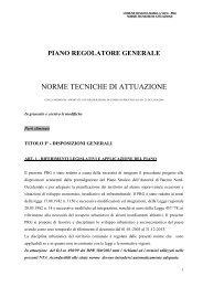 Norme Tecniche di Attuazione del Piano Regolatore Generale