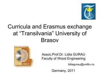 """Transilvania"" University of Brasov"