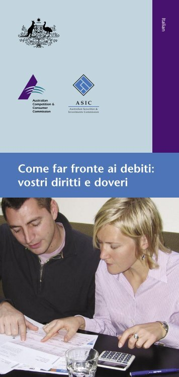 Dealing with debt - language Italian - MoneySmart