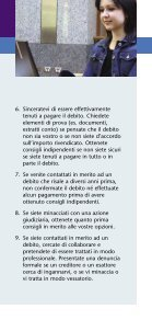Dealing with debt - language Italian - MoneySmart - Page 3
