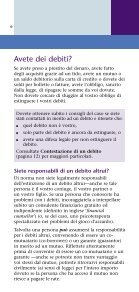 Dealing with debt - language Italian - MoneySmart - Page 6