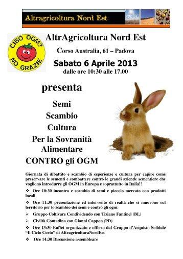Ulteriore materiale informativo disponibile cliccando qui - Aiab Veneto