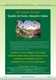 Biologi Italiani 8-11/2010 - Qualità del Suolo, Alimenti e Salute