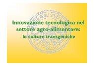 Impatto sulla salute del consumatore - Università degli Studi di ...