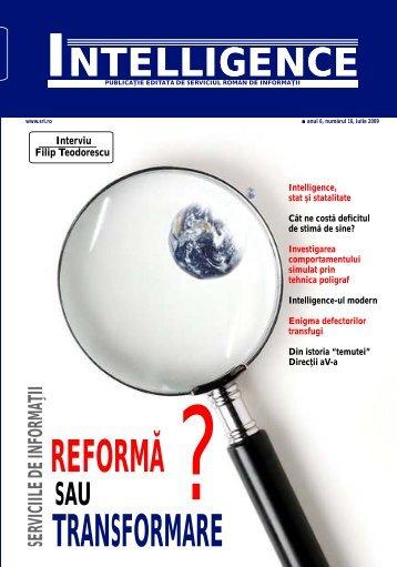 REFORMĂ TRANSFORMARE - Serviciul Român de Informaţii