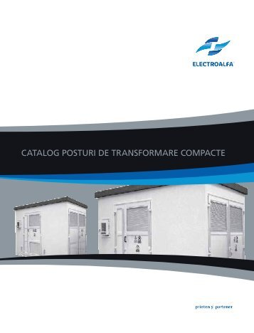 catalog posturi de transformare compacte - Electro Alfa International